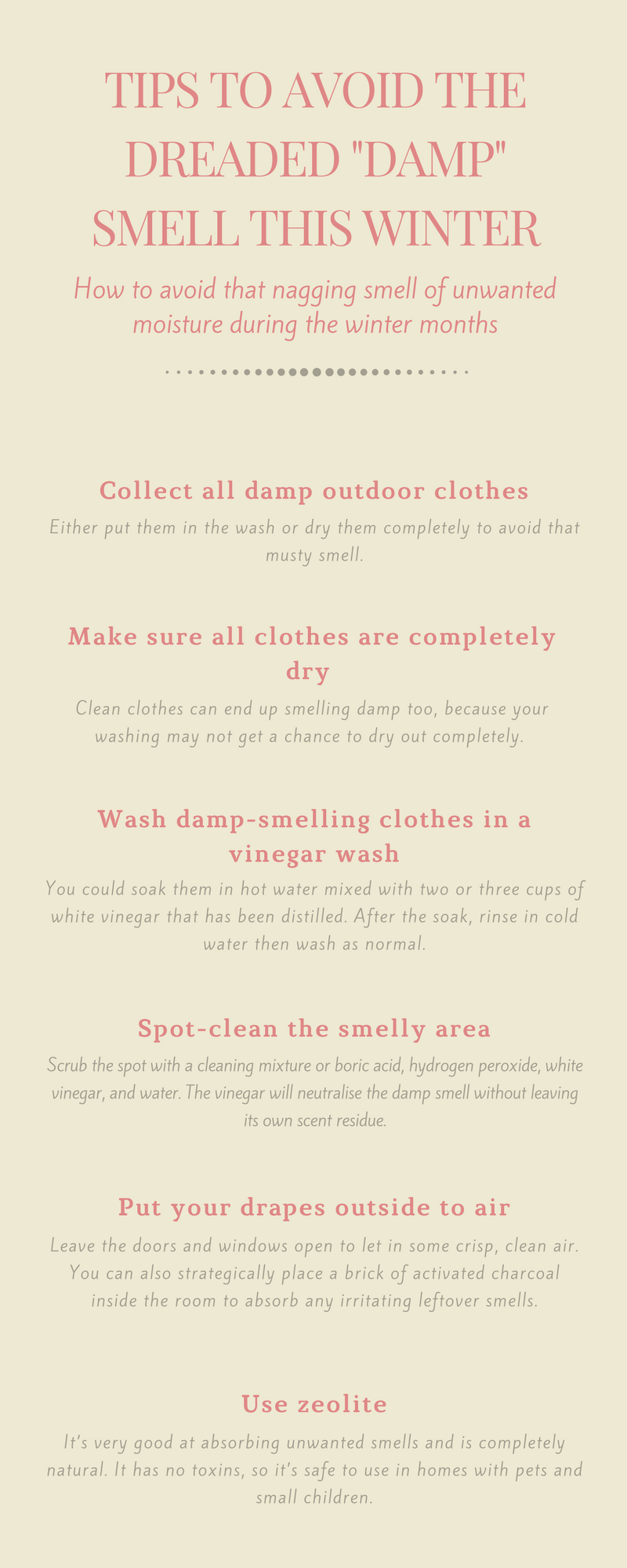 10 Tips to Avoid The Dreaded Damp Smell This Winter